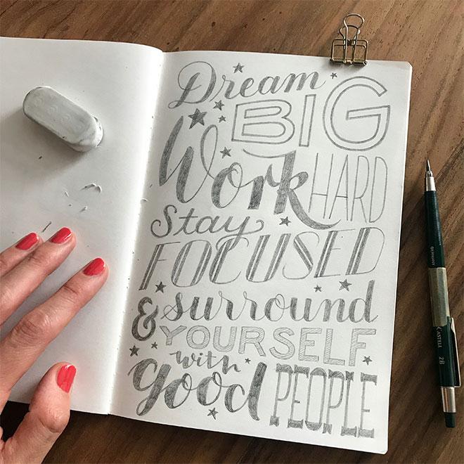 Meine Top 6 Tipps für das Lettern mit dem Bleistift