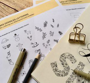 Christmas Doodles Lettering Anleitung