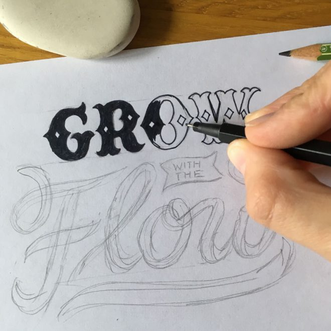Lettering-Komposition-Grow-with-the-flow